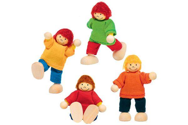 Goki poppenhuis kindjes 4 stuks for Poppenhuis poppetjes