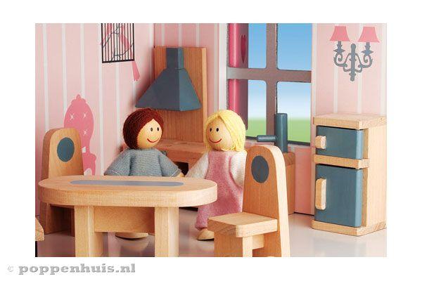 Janod mademoiselle for Poppenhuis poppetjes