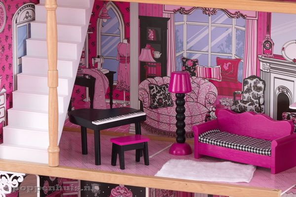 Barbie Slaapkamer Meubels : Kidkraft Amelia Poppenhuis.nl