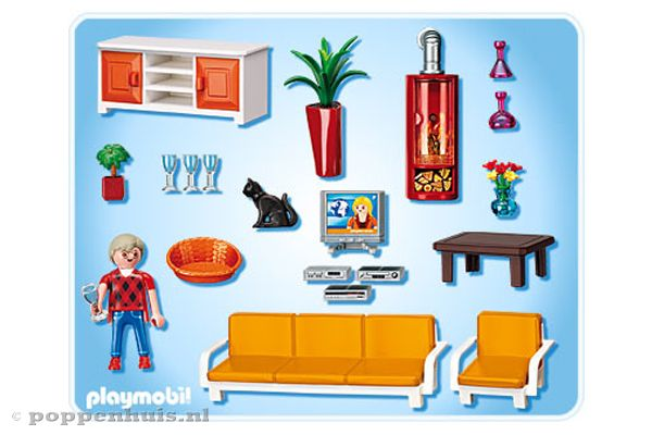 Playmobil huiskamer 5332 - Playmobil wohnzimmer 5332 ...