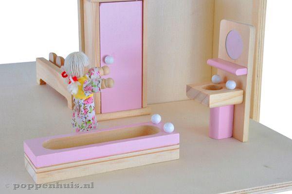 Badkamer Accessoires Roze : Badkamer voor poppenhuis u devolonter