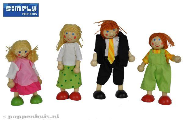 Woodtoys poppenhuisfamilie for Poppenhuis poppetjes