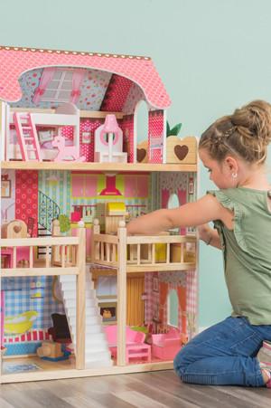 Barbie poppenhuis voordelig bij for Poppenhuis voor barbie